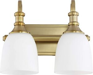 Quorum 5011-2-80 Richmond Bathroom Transitional 2 Light Vanity Light Aged Brass