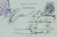 Postkarte Deutsche Reichspost Jahr 1901 gelaufen in Berlin sehr interessant