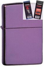 Zippo 24747 purple abyss Lighter with *FLINT & WICK GIFT SET*