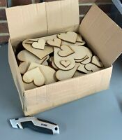 HA2 XL Clearance Wholesale Job lot Laser Cut Wooden MDF Love Heart Craft Shapes