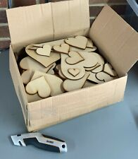 XL Clearance Wholesale Joblot Laser Cut Wooden MDF Love Heart Craft Shapes wood