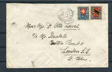 Auslandsbrief Schweiz Mi.-Nr. 173+174 MiF Pro Juventute 1921 Zürich-London