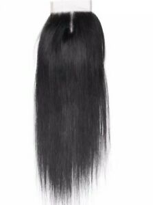 """Straight Lace Closure 4x4 Pre Plucked Natural Hairline Brazilian Remy Human 12"""""""