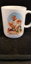 Norman Rockwell Coffee Mug 'Catching the Big One""