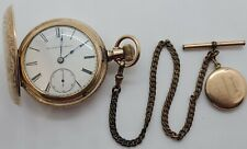 Antique 1884 ELGIN Gold G.F. Full Hunter 15J Railroad Grade RR Pocket Watch 18s