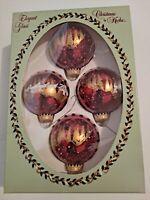 Christmas By Krebs Set Of 4 Santa's Sleigh Elegant Glass Ball Ornaments