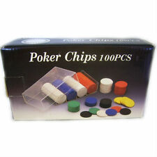 Poker Chips Set, 100 Pieces, Stag Nights, Man Caves, Gifts for Men, Cards J721