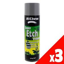 Primer Super Etch Spray Can 400g HiChem Fast Drying Time Sandable Surface 3 Pack