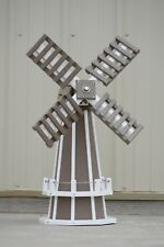 "30"" Poly Dutch Windmill (Clay with WhiteTrim)"