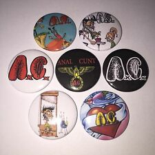 7 Anal C**t badges Seth Putnam it just gets worse picnic of love Grindcore AC