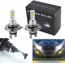 Pair H4 9003 HB2 6500K SUPER WHITE CSP LED Headlights Bulbs Kit High Low Beam