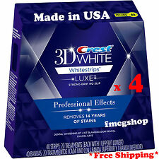 Crest 3D Whitestrips LUXE Professional Effects Teeth Whitening 40 strips x 4 Box