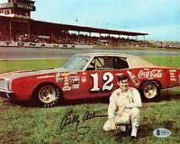 BOBBY ALLISON SIGNED AUTOGRAPHED 8x10 PHOTO NASCAR LEGEND  BECKETT BAS
