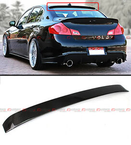 VIP CARBON FIBER REAR ROOF SPOILER VISOR FIT FOR 2009-13 INFINITI G25 G37 SEDAN