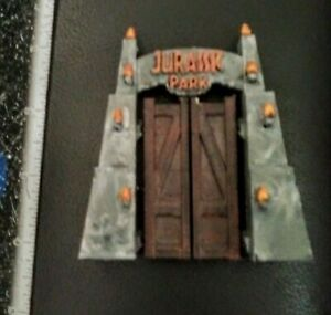 rare 3D custom original Jurassic Park Dinosaur Gate diorama piece painted model