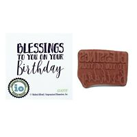 Birthday Blessings Rubber Stamp Words Phrase Impression Obsession Cling Stamps