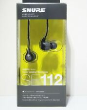 Shure Se112Gr-A Sound Isolating In-Ear Headphones Gray from Japan w/ Tracking