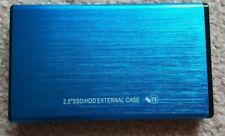 USB 2.0 SATA Hard Drive Enclosure HDD 2.5″ inch External Case Caddy UK Blue