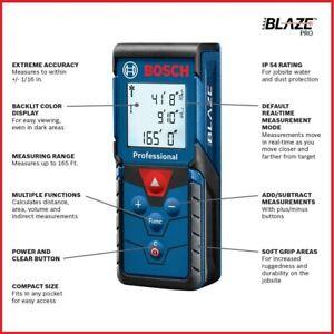 Bosch GLM165-40 BLAZE Pro 165' Laser Distance Measure Brand New Sealed