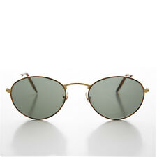 Round Gold and Tortoise Vintage Sunglass with Glass Lens - Dove