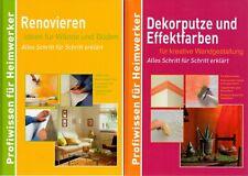 2x Profiwissen für Heimwerker: Renovieren Wände Dekorputze… * HC, neuwertig