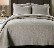 Reversible Quilted Cotton Coverlet Bedspread 3pc Set King/Super King MP037