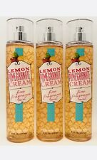 3 Bath & Body Works Lemon Pomegranate Cream Fine Fragrance Mist Spray 8 fl.oz