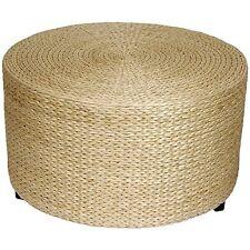 Oriental Furniture Rush Grass Coffee Table/Ottoman - Natural