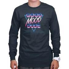 Good Mood Dude Retro 80s Vibes Vintage Gift Long Sleeve Tees Shirts T-Shirts