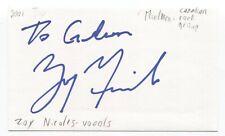 "Mudmen - Zois ""Zoy"" Nicoles Signed 3x5 Index Card Autographed Signature Band"