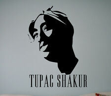 Tupac Shakur Wall Vinyl Decal 2Pac Vinyl Sticker Home Interior Removable Decor 7