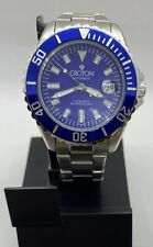 Croton AUTOMATIC Men's Watch Submariner Blue Dial S. Steel Screw Down Crown 42mm