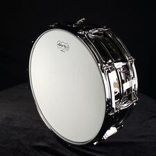 "LUDWIG 5X14"" Hammered Black Beauty B Stock Snare Drum LB416KB"