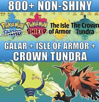 Pokemon Sword & Shield | Full Galar Living Pokedex | Non-Shiny | CROWN TUNDRA