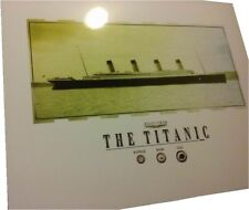 COAL, WOOD & RUSTICLE pieces, specks from the TITANIC........FRAME READY 8 x 10