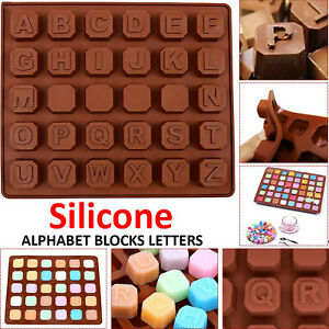 Silicone Alphabet Letter A-Z Chocolate Mould Candy Cookie Ice Cube Jelly Mold