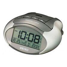 Seiko QHL023A Reloj Despertador LCD Digital termómetro, calendario, luminoso