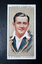 Leicestershire CCC   Dawson    Vintage Cricketer Card