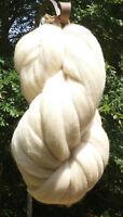 8 lb White Wool Top Roving  Natural white