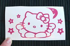 Adesivo Hello Kitty Angelo auto moto scooter sticker decal vynil vinile ok