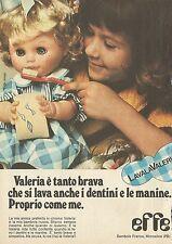 X4504 Valeria Bambole EFFE - Pubblicità 1976 - Advertising