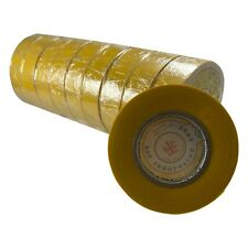 """10 Rolls Yellow PVC Insulated Electrical Tape - 3/4"""" x 50' FT x 7 MILL UL Listed"""