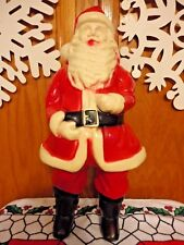 "VTG 1950's HARD PLASTIC 17"" SANTA CLAUS LIGHT UP CHRISTMAS BLOW MOLD SAINT NICK"