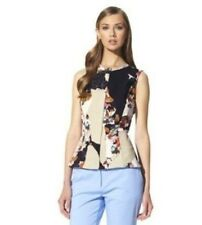 NWT Phillip Lim Target collaboration Woven Floral Print Peplum Shirt Size XS.