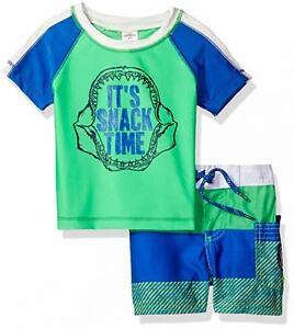 Osh Kosh B'gosh Infant Boys 2pc Rashguard Swim Short Set Size 12M 18M 24M