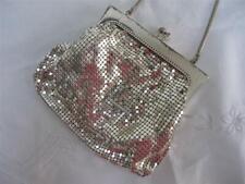 Vintage Mesh Purse Bag 1950s Ladies Silver Gilt Metal Evening Chain Mail  50s