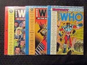 1991 WHO'S WHO Impact Comics #1 & DC Universe #6 9  SEALED Hawkman LOT of 3