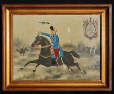 """Photo """"Souvenir du 7e Régiment de Hussards"""" Classe 1911 - Hussard à cheval WW1"""