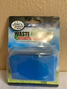 Four Paws Waste Manager Refill Bags For Dog Scooper Tie Handle Bags 2 Pack Of 30