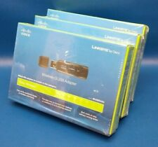 Lot of 3 Brand New Cisco Linksys Wireless-G Usb Adapter Wusb54Gc Sealed in Box